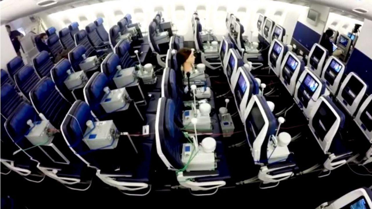 Avion covid prueba
